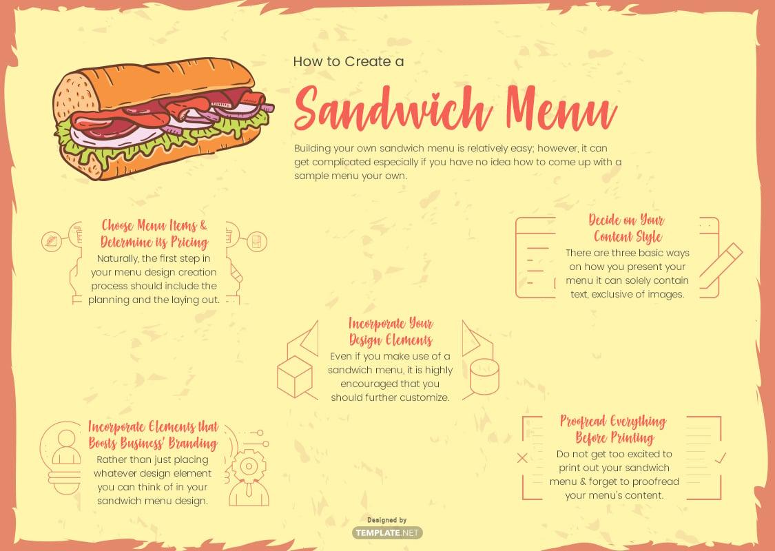 sandwich menu template