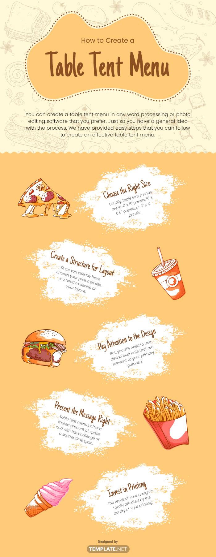 table tent menu template