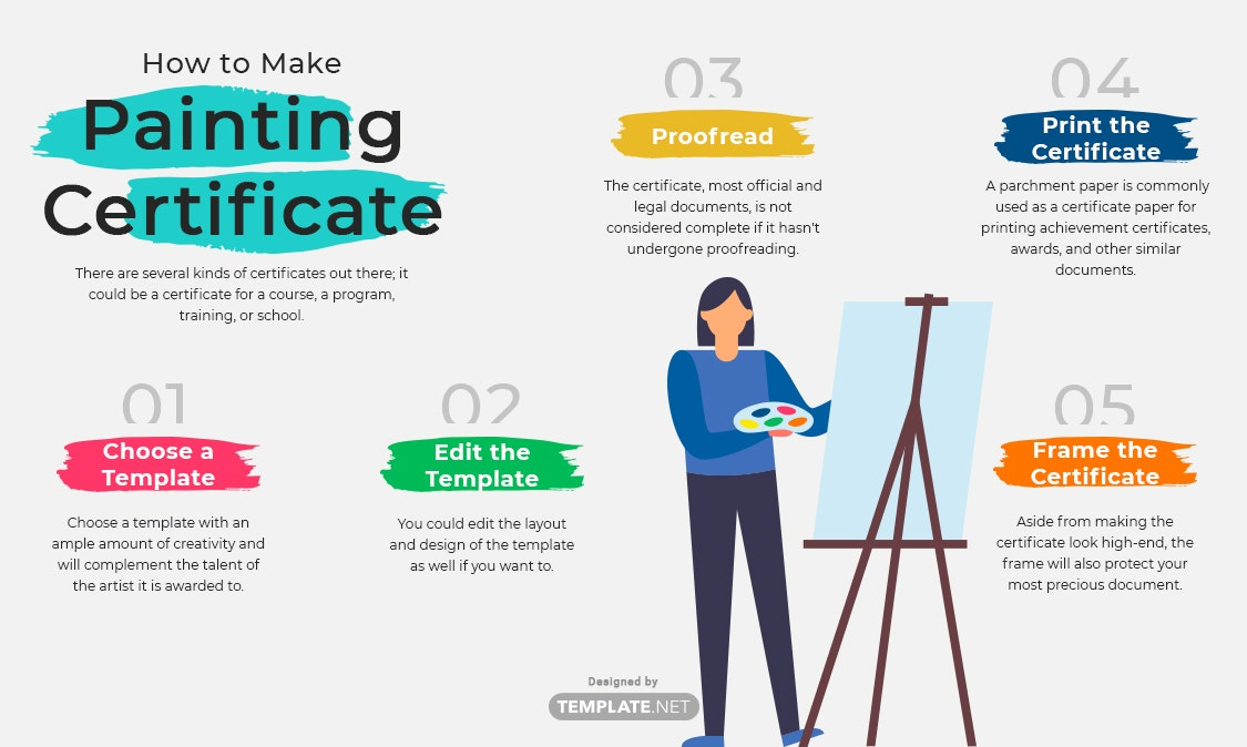 painting certificate template