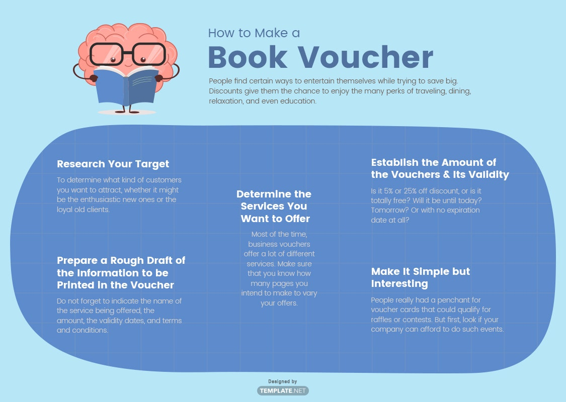 how to make a book voucher