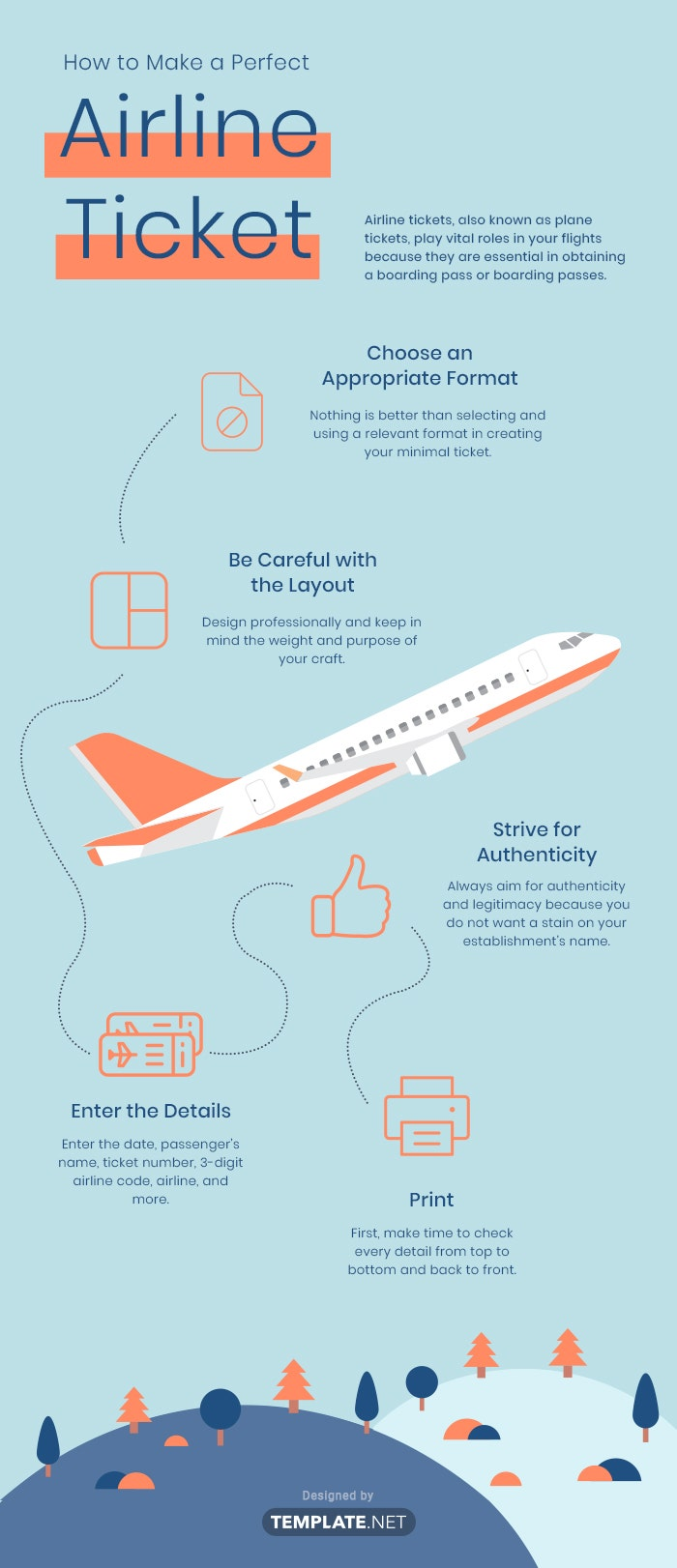 how to make a perfect airline ticket