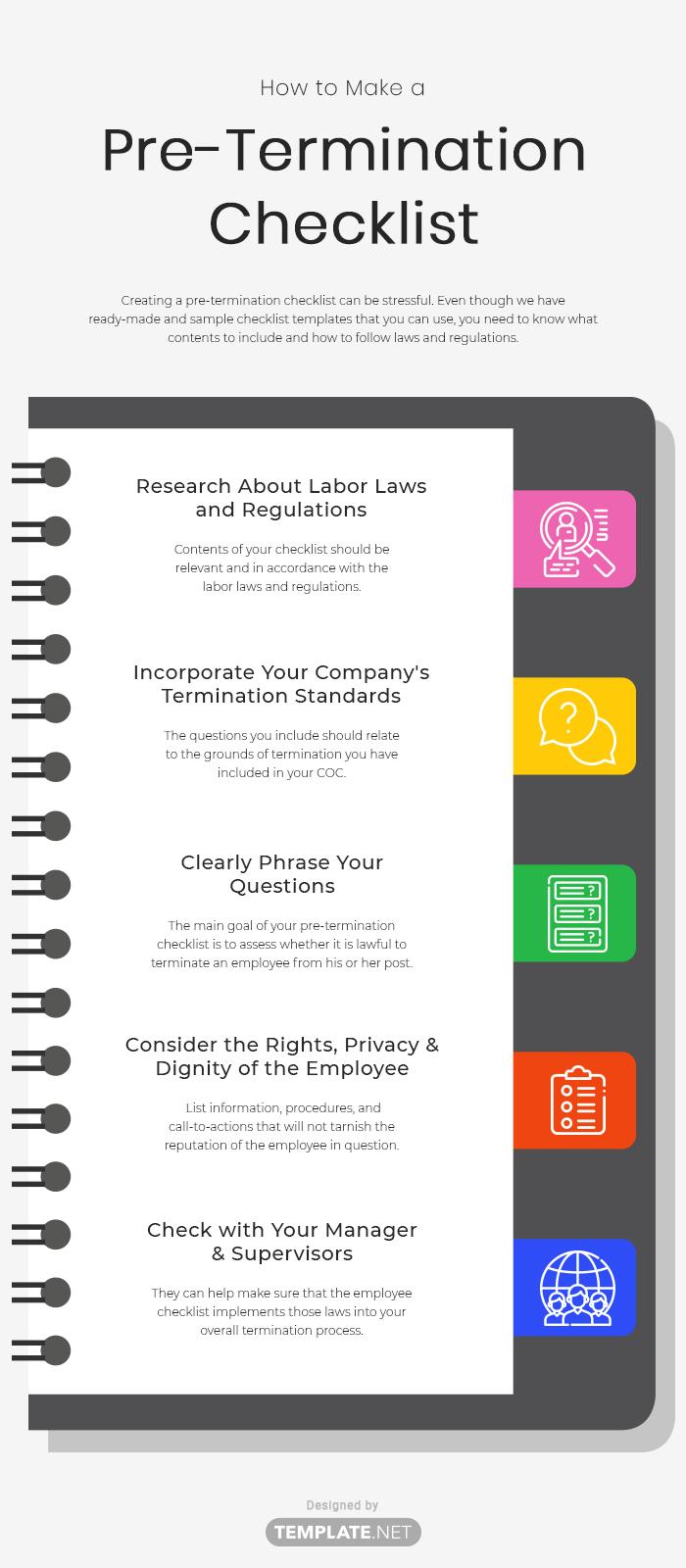pre termination checklist template
