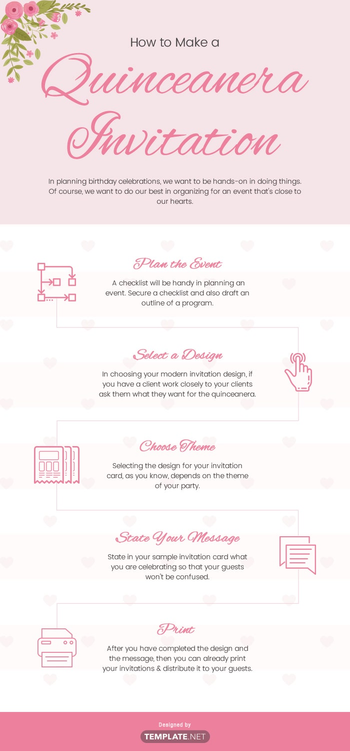 how to make a quinceanera invitation