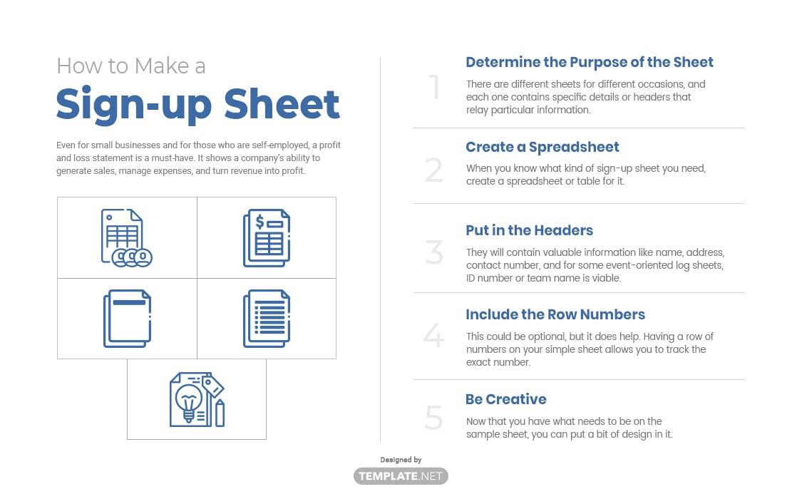 sign-up sheet template