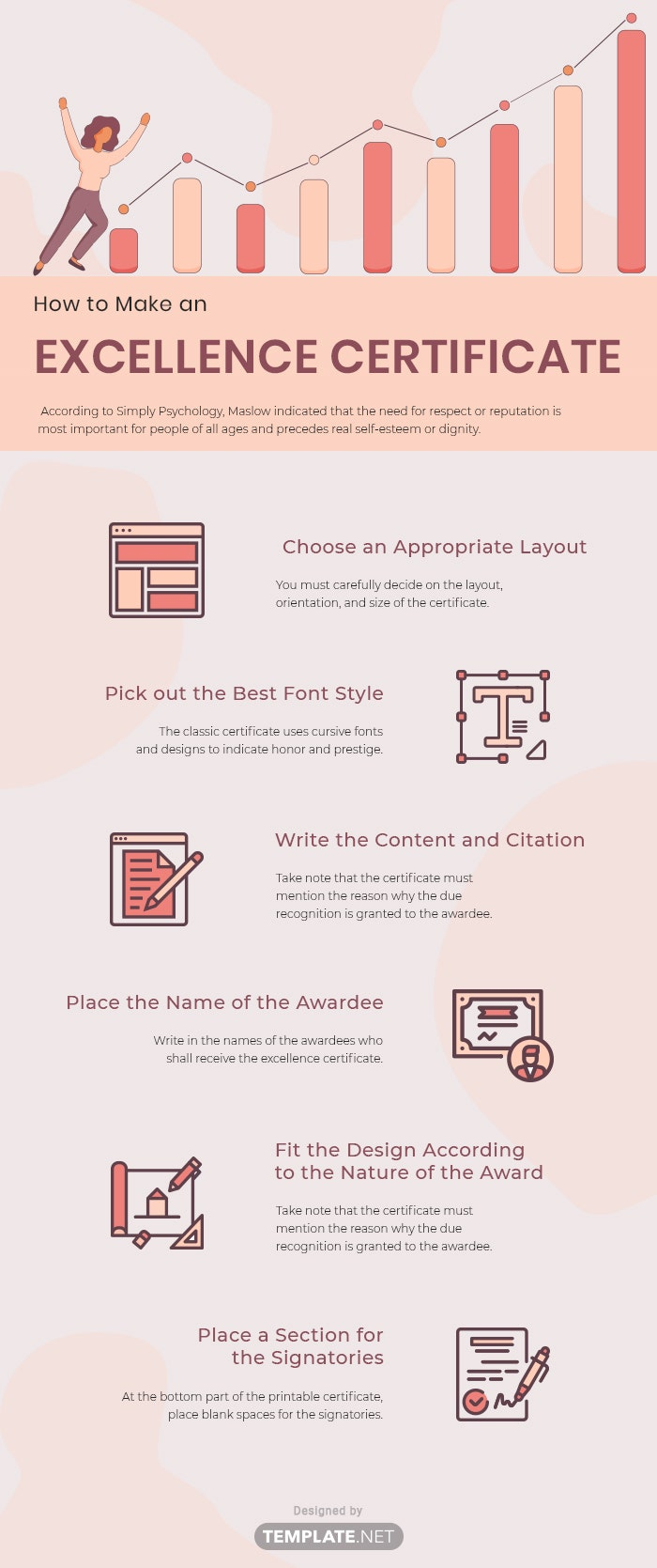 excellence certificate template