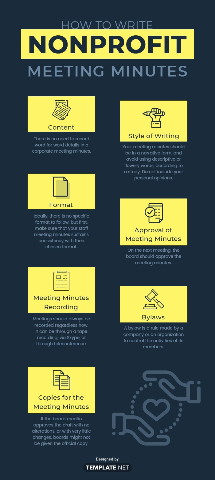 nonprofit meeting minutes template