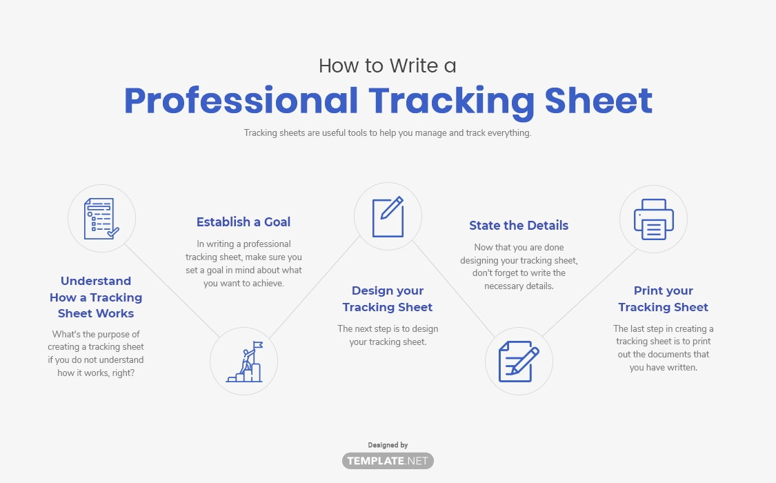 how to write a professional tracking sheet