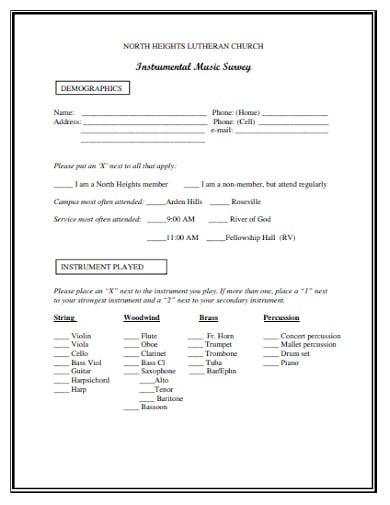 instrumental music survey