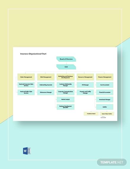 insurance organizational chart