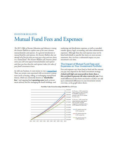 investment fees calculator format