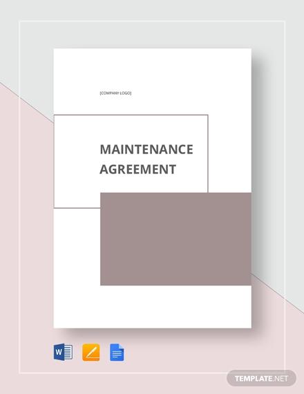 maintenance agreement 2