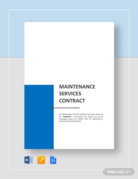 maintenance services contract
