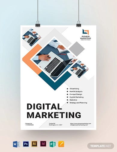 marketing agency poster template1