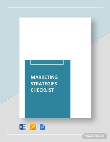 marketing strategies checklist