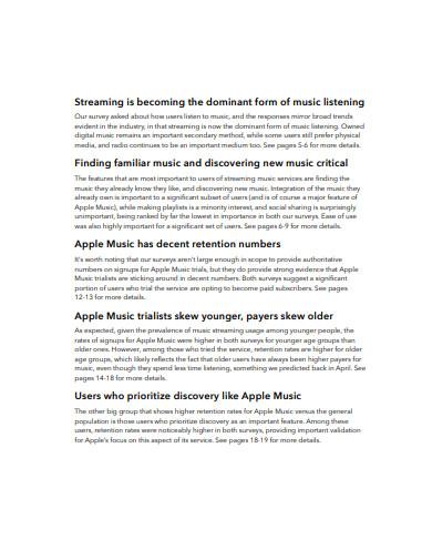 music survey report