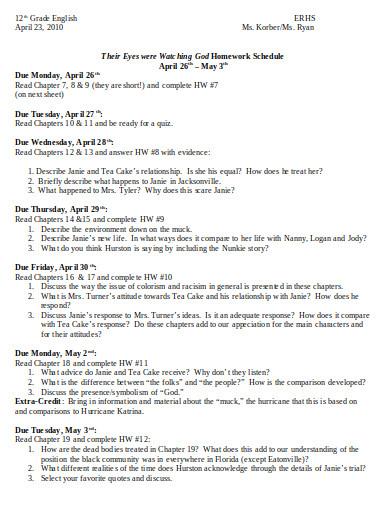 nanny work schedule