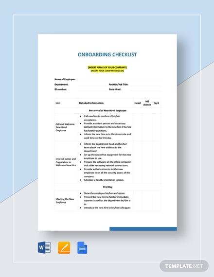 onboarding checklist1