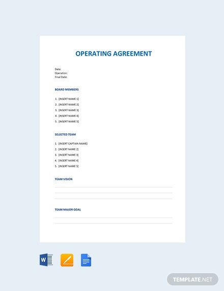 operating agreement 3