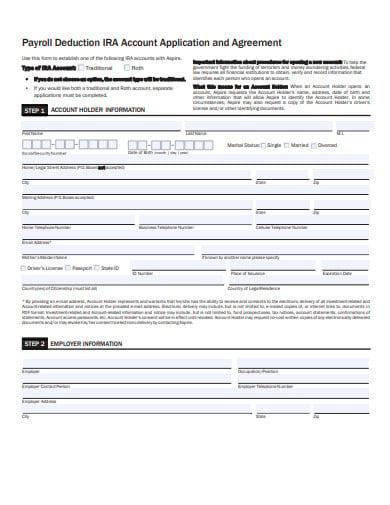 payroll deduction iras account application