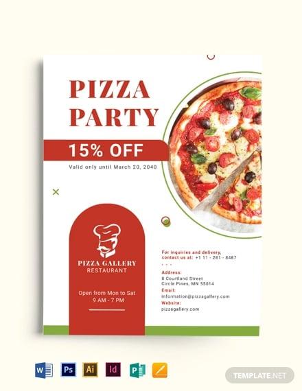 pizza restaurant advertising flyer template1
