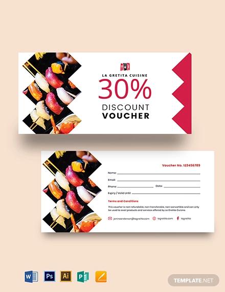printable restaurant voucher template