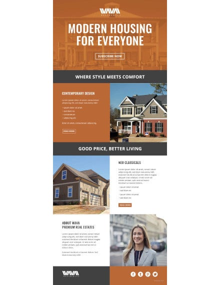 real estate email newsletter template1