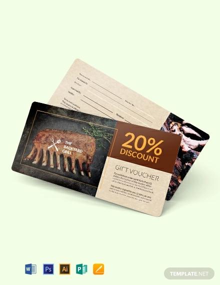 restaurant discount voucher template