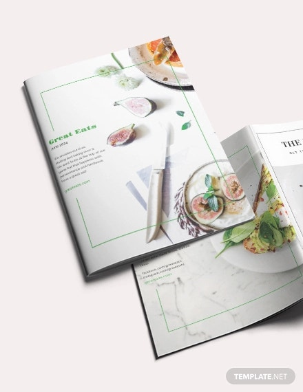 restaurant magazine template
