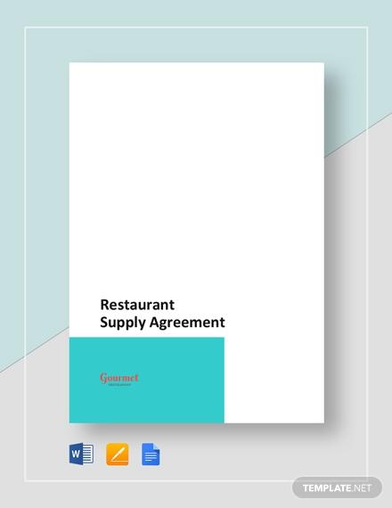 restaurant supply agreement