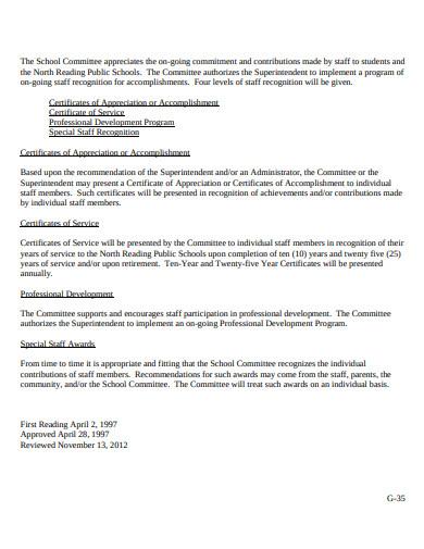 retirement certificate of appreciation or accomplishment