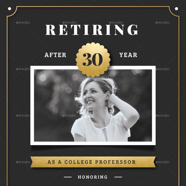 retirement invitation flyer template