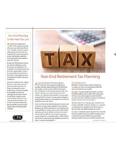 retirement tax general information planning