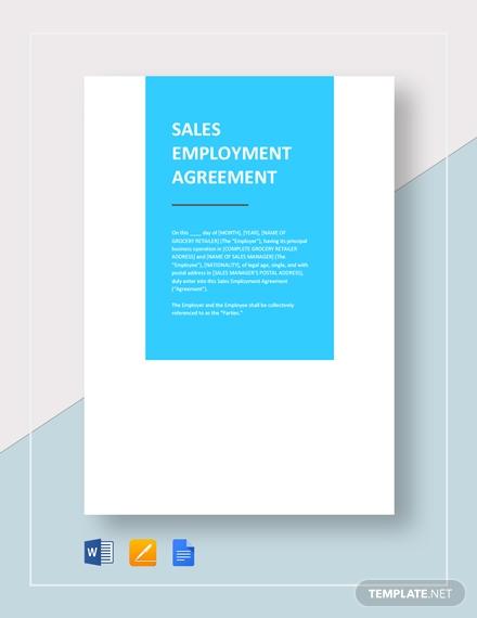 sales employment agreement 2