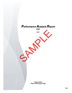 sample profit improvement report page 001