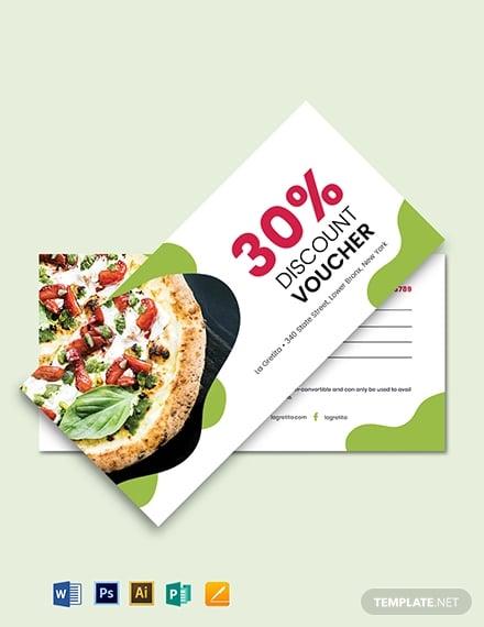 sample restaurant voucher template