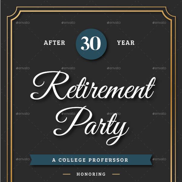 sample retirement invitation flyer