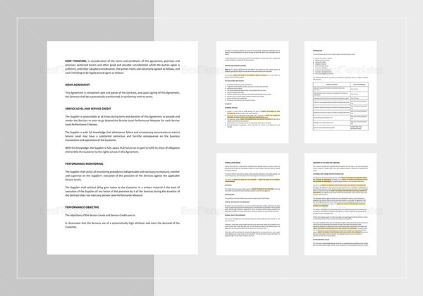 service level agreement template 1 600x420
