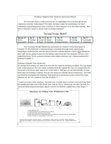 training design model task analysis