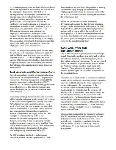training task analysis strategy
