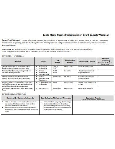 training work plan in doc