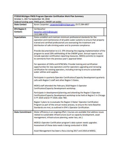 training work plan in pdf
