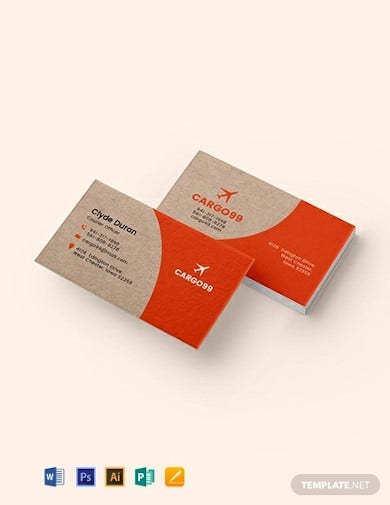 transport business card template