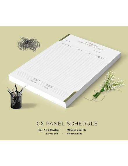 cx lighting control panel schedule
