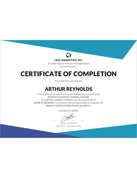 course completion certificate photoshop template
