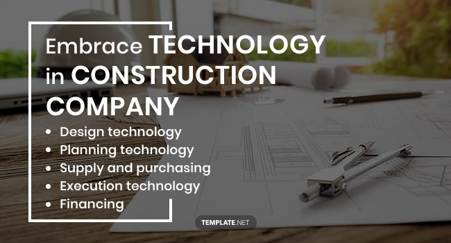 embrace technology in construction company