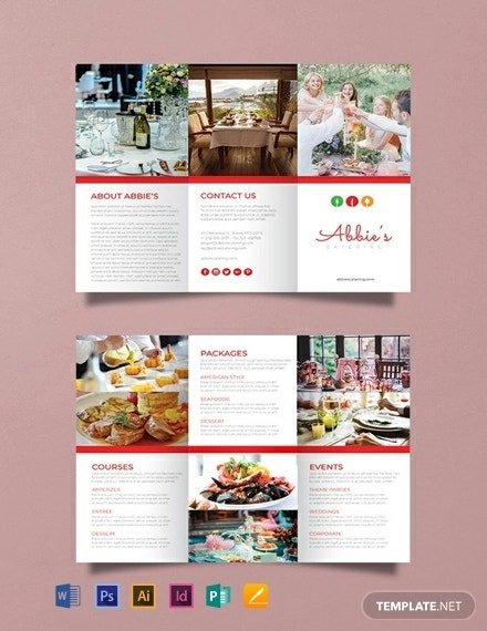 free catering brochure template