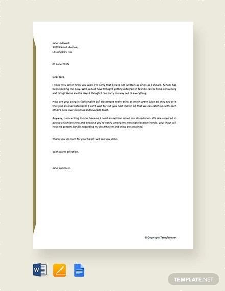 free informal letter sample