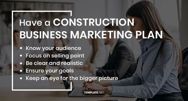 have a construction business marketing plan