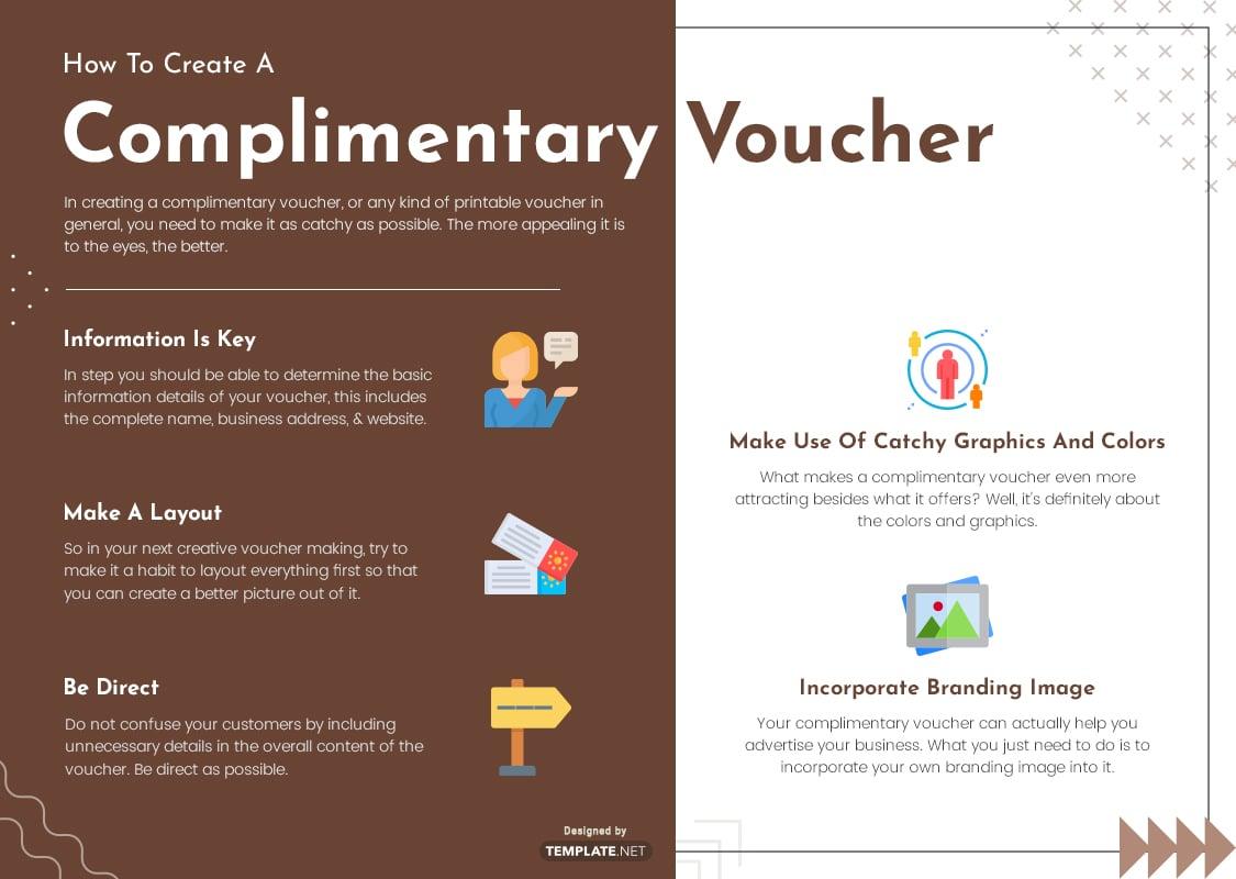 complimentary voucher template