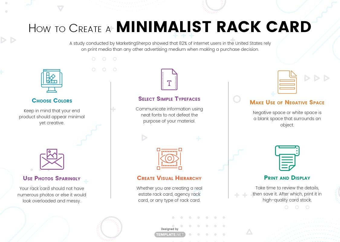 minimalist rack card template